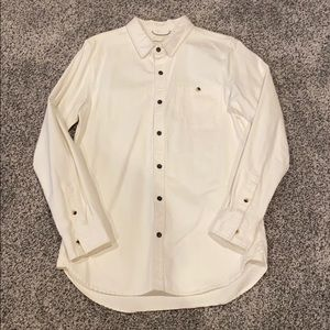 Modern amusement white denim shirt jacket